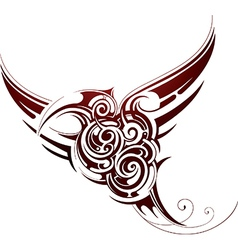 Bird tribal tattoo vector