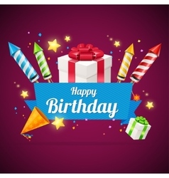 Birthday Card Flyer or Placard vector image
