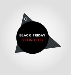 black friday sale banner on round black vector image
