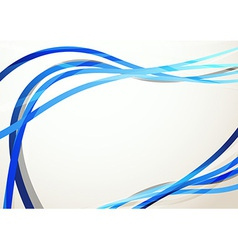 Blue modern swoosh abstract background vector image