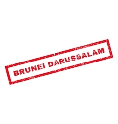 Brunei Darussalam Rubber Stamp vector