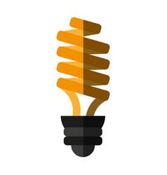 Bulb cartoon flat shadow vector