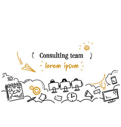 business support technology consulting team vector image