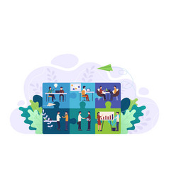 business team puzzle concept teamwork cooperation vector image