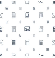 calculate icons pattern seamless white background vector image