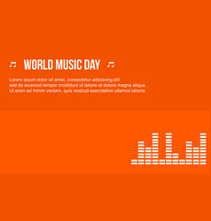 celebration music day background style vector image