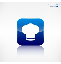Chef cap icon Cooking cap vector image