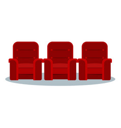 cinema red chair vector image