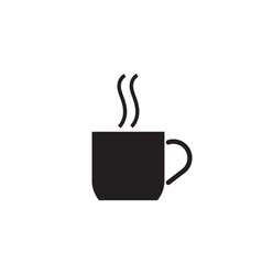 coffee cup black vector image