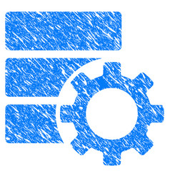 Database options gear grunge icon vector