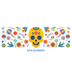 day dead dia de los muertos background vector image