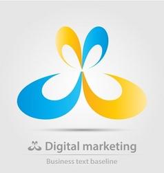Digital marketing business icon vector image