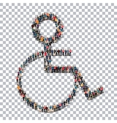 Disabled isometrick people 3d vector