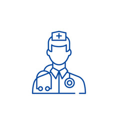 doctor line icon concept doctor flat vector image