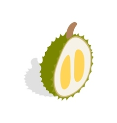 Durian icon isometric 3d style vector image