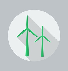 Eco Flat Icon Wind Energy vector