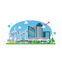 eco sustainable city vector image