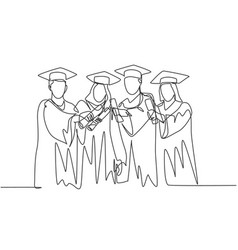Education concept one single line drawing of vector