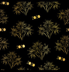 fireworks 2020 happy new year seamless vector image