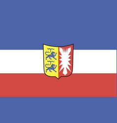 Flag schleswig-holstein vector
