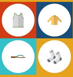 Flat icon dress set of beach sandal banyan vector