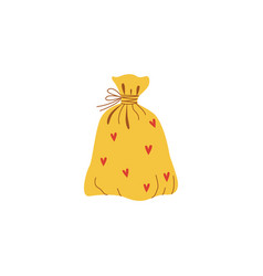 flat present sack bag icon vector image