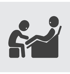 Foot massage icon vector