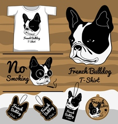 French Bulldog t shirt vector