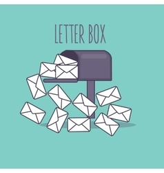 Full inbox email mailbox letter box flat icon vector
