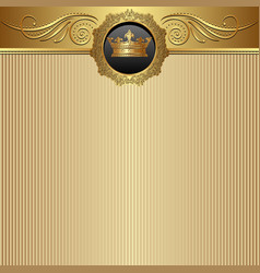 Golden background with crown vector