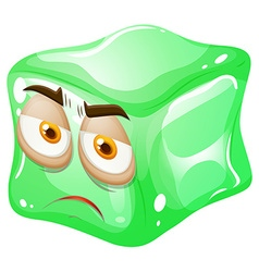Green cube with face vector
