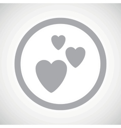Grey love sign icon vector image