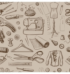 Hand drawn sewing pattern vector image