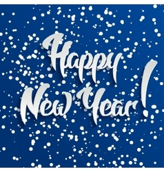 Happy New Year 3d White Text with Shadow vector