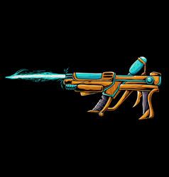 Ice gun cartoon vector