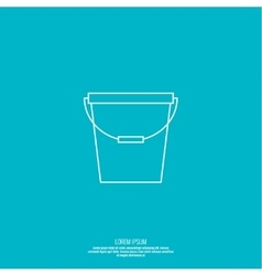 icon bucket vector image