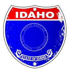 Idaho flag icons as a interstate sign vector