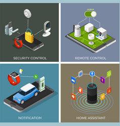 Internet of things isometric concept vector