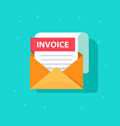 Invoice icon email message received with vector