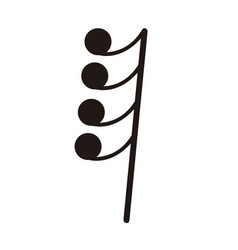 Isolated sixty-fourth rest note musical note vector