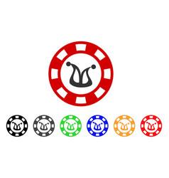 Joker casino chip icon vector