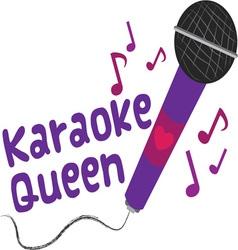 Karaoke Queen vector