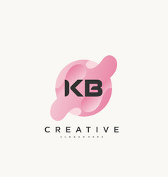 Kb initial letter colorful logo icon design vector
