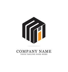 m i initial logo designs i creative logo vector image