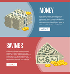 making money and savings flyers vector image