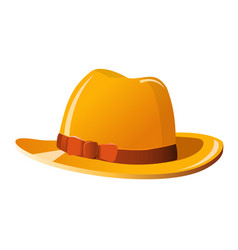 man hat icon in retro style on white background vector image