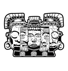 mayan mask maya culture face vector image