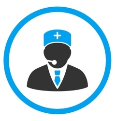 Medical Manager Rounded Icon vector image