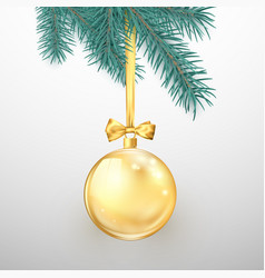 merry christmas and happy new year holiday vector image