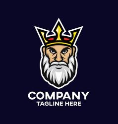 modern king logo vector image